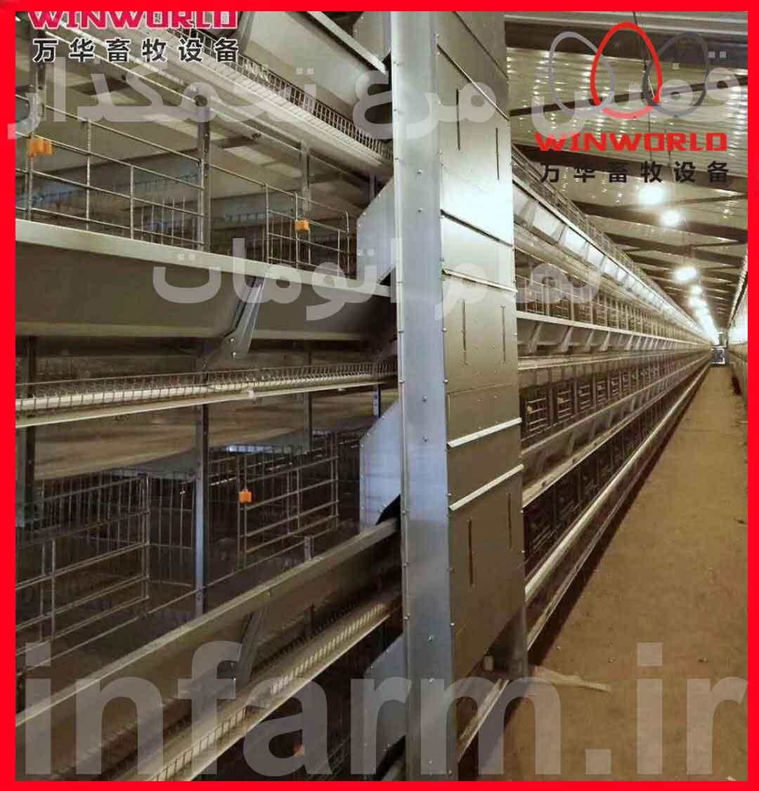 جدول مشخصات قفس مرغ تخمگذار تمام اتوماتیک، کمک به خرید بهتر قفس مرغ تخمگذار